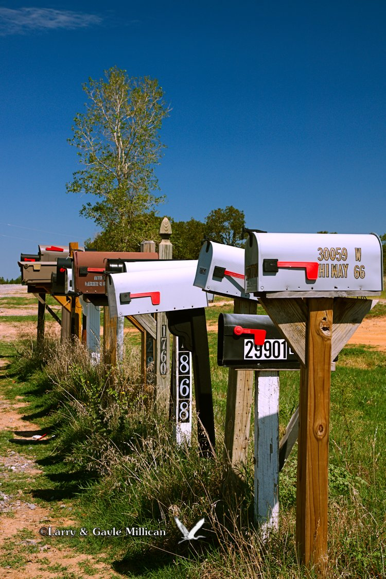 Mailboxes along Route 66 in Oklahoma