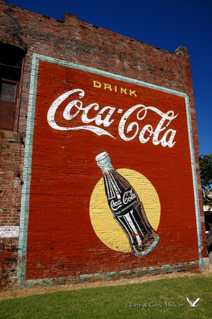 Coca-Cola Sign refurbished in Stroud