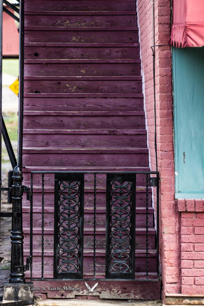 Magenta Staircase in Van Buren