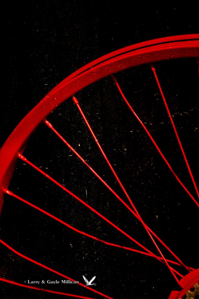 Red Bicycle Wheel Van Buren