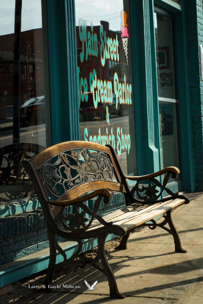 Ice Cream Parlor bench