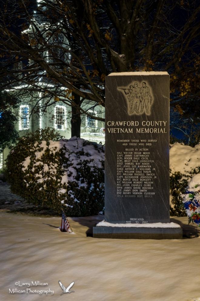Crawford County Vietnam Veterans Memorial, County Courthouse, Van Buren, Arkansas