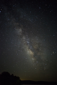 The Milky Way above Lake Hinkle, near Waldron, Arkansas